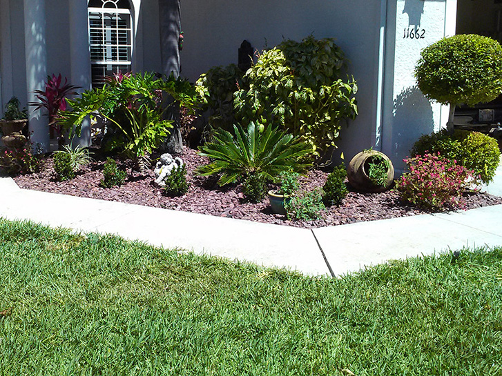 New landscape beds pillar lawn care for Landscaping rocks fort myers fl